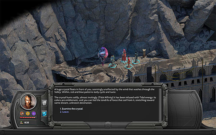 Investigate a large levitating crystal - Severed Child - side quest walkthrough | Valley of Dead Heroes - Valley of Dead Heroes - Torment: Tides of Numenera Game Guide