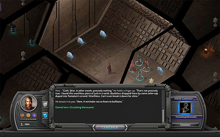 Circulating Merecaster can be found in one of the tombs found in Necropolis - All Merecasters in Torment: Tides of Numenera - Puzzles and additional activities - Torment: Tides of Numenera Game Guide