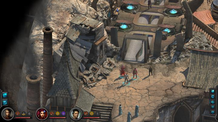 Examine the collapsed building. - The Sorrows Prey - side quest walkthrough | Circus Minor - Sagus Cliffs: Circus Minor - Torment: Tides of Numenera Game Guide
