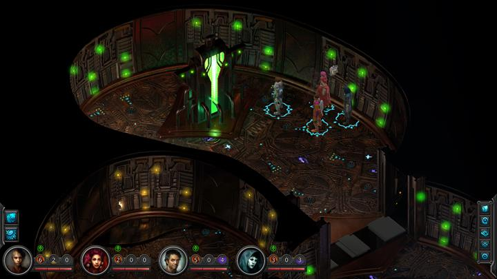 Keep going towards the panels and remove the conscience of the Peerless - The Anechoic Lazaret - side quest walkthrough | Government Square - Sagus Cliffs: Government Square - Torment: Tides of Numenera Game Guide