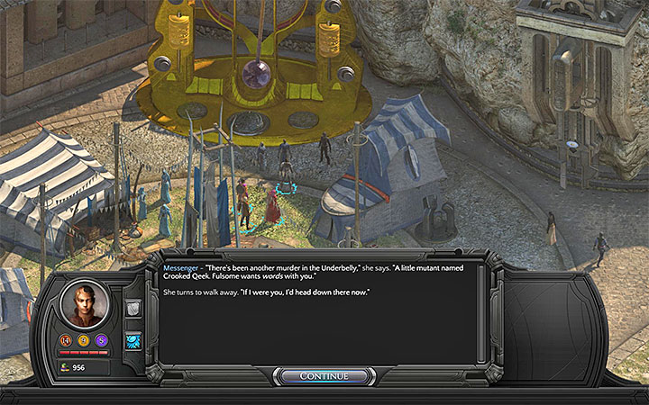 You can learn about new murders from the Messenger - Who is the serial killer in Sagus Cliffs and whom can he murder? - Puzzles and additional activities - Torment: Tides of Numenera Game Guide