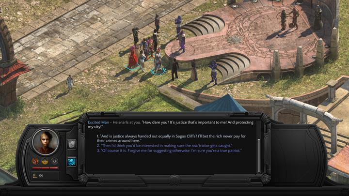 You can incite the crowd to make it convince the authorities to release the prisoner. - Stay of Execution - side quest walkthrough | Circus Minor - Sagus Cliffs: Circus Minor - Torment: Tides of Numenera Game Guide