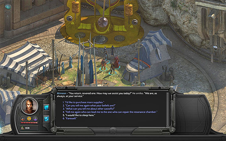 5) After the mentioned quest is completed and you will join the brotherhood, ask for an opportunity to rest once again (as shown in the picture above) - Where can you rest for free in Sagus Cliffs? - Puzzles and additional activities - Torment: Tides of Numenera Game Guide