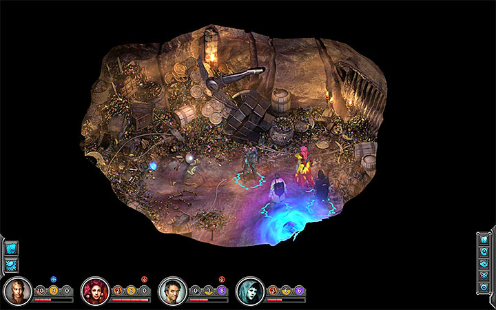 Interact with the Maw to enter the treasure room - Old Slave Block Map - M17 - Bloom: Vast Interior - Torment: Tides of Numenera Game Guide
