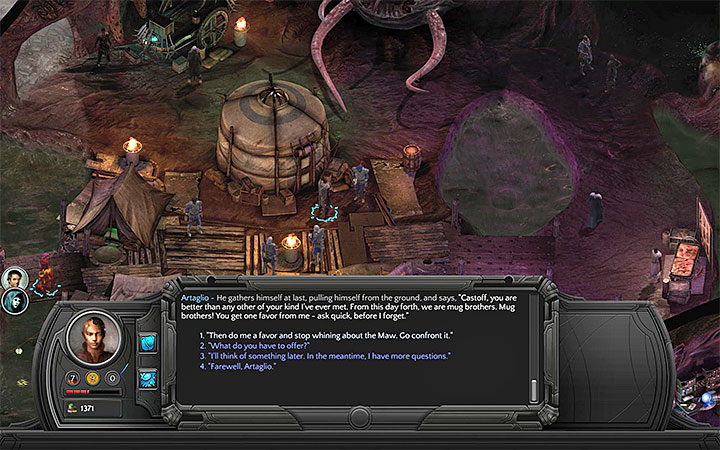 You can convince Artaglio to go face the Maw - How to reach the Trade Post and Ascension in Bloom? - Puzzles and additional activities - Torment: Tides of Numenera Game Guide