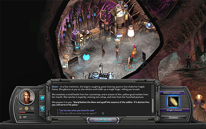 Have Sheen prepare the essence for you - How to reach the Trade Post and Ascension in Bloom? - Puzzles and additional activities - Torment: Tides of Numenera Game Guide