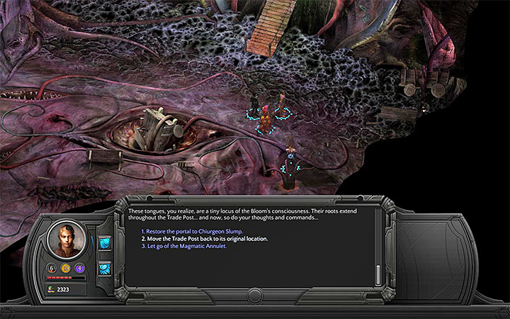 Unlock one of the two possible passages. - Dracogens Price - main quest walkthrough | Memoviras Courtyard - Bloom: Memoviras Courtyard - Torment: Tides of Numenera Game Guide