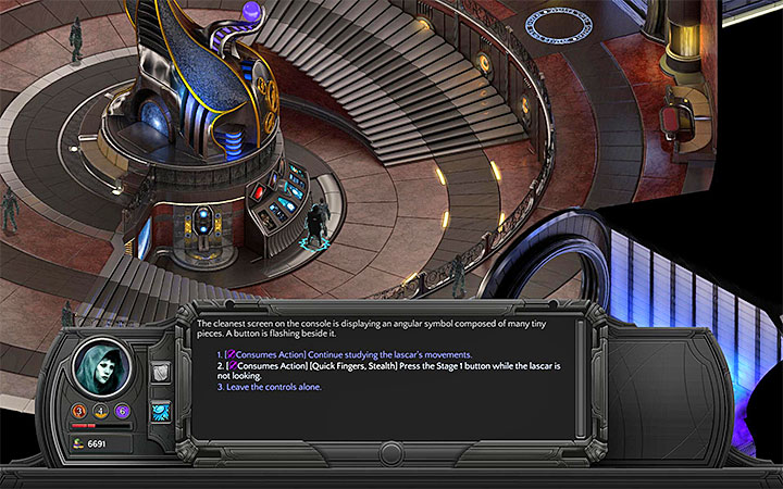 The second person must confirm the commands by using the main console. - Dracogens Price - main quest walkthrough | Memoviras Courtyard - Bloom: Memoviras Courtyard - Torment: Tides of Numenera Game Guide