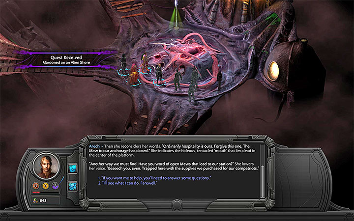 The Lascars are near the passage to Small Nihilesh - Marooned on an Alien Shore - side quest walkthrough | Vast Interior - Bloom: Vast Interior - Torment: Tides of Numenera Game Guide
