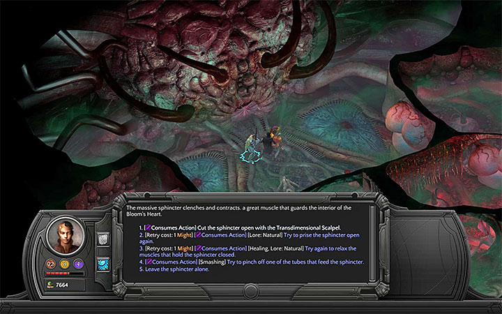 Use a few regular skills on the Maw or open it with the Transdimensional Scalpel - How to pass through the Nethermost Cavity in the Bloom and reach the Heart Interior? - Puzzles and additional activities - Torment: Tides of Numenera Game Guide