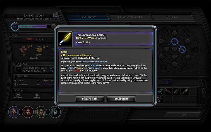 The ready item - Where to obtain the scalpel for opening Maws in Bloom? - Puzzles and additional activities - Torment: Tides of Numenera Game Guide
