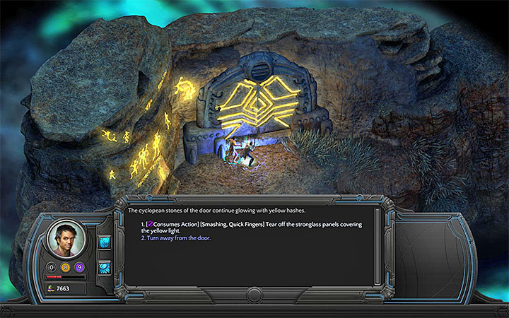Defeat the enemies or quickly unlock the entrance to the cave - The Right To Exist - main quest walkthrough | The Finale - The Finale - Torment: Tides of Numenera Game Guide