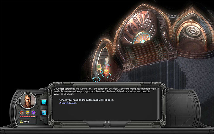 Examine the side door and complete the scenes related to it - The Right To Exist - main quest walkthrough | The Finale - The Finale - Torment: Tides of Numenera Game Guide