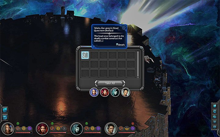 Collect the head of the construct after winning - How to defeat the Waits-for-prey construct in the Bloom? - Puzzles and additional activities - Torment: Tides of Numenera Game Guide