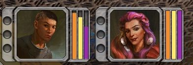 The three bars represent Strength, Speed and Intelligence. Undergoing skill checks will drain your bars - Skill Checks | Gameplay basics - Gameplay basics - Torment: Tides of Numenera Game Guide