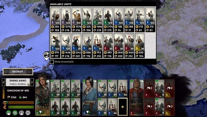 Managing and controlling the army in Total War Three Kingdoms