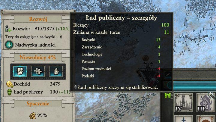 Mueva el cursor sobre el icono del orden público para obtener más información.  - Control del Orden Público y la Corrupción |  Mapa de la Campaña Jugabilidad - Mapa de la Campaña Gameplay - Total War: Warhammer II Game Guide