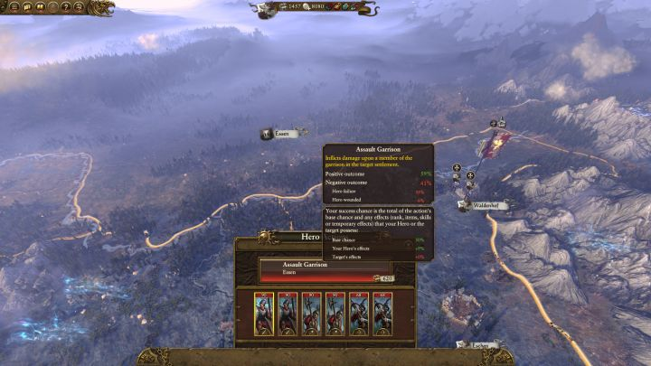 Using heroes and its consequences - Total War: Warhammer