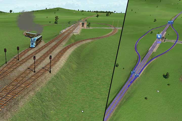 you can also place a station inside the route and on its sides create parallel railway