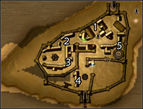 This map shows the locations of certain quests that might be tricky to spot - Qudinar - Quests - Two Worlds - Game Guide and Walkthrough