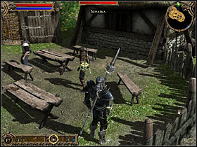 Scar in Four Stones village. - Qudinar - Quests - Two Worlds - Game Guide and Walkthrough
