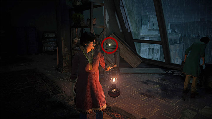 There are a few interactive artifacts at the attic, although examining them is completely optional - 2 - Infiltration | Walkthrough - Walkthrough - Uncharted: The Lost Legacy Game Guide