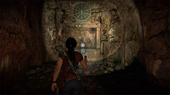 Tunnel leads to a small cave - search the area to find the token which is located in a dark recess shown on the screenshot above - 4- Hoysalas Tokens and the Queens Ruby | Walkthrough - Walkthrough - Uncharted: The Lost Legacy Game Guide
