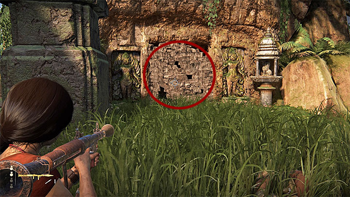 Token 3/11 is located in the south-western part of the map, in an area occupied by enemy forces - 4- Hoysalas Tokens and the Queens Ruby | Walkthrough - Walkthrough - Uncharted: The Lost Legacy Game Guide