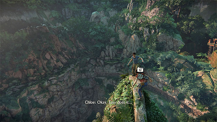 Soon, you will reach a new viewpoint, where you will watch a short cutscene - 5 -The climb | The Great Battle | Walkthrough - Walkthrough - Uncharted: The Lost Legacy Game Guide