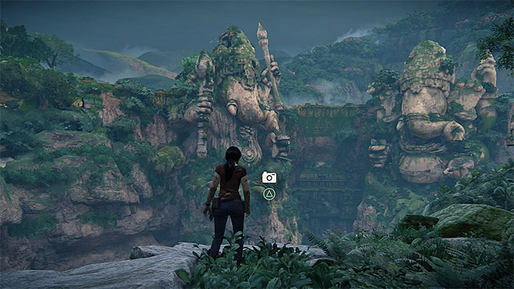 After you return to the jungle, climb up and reach the fork - 5 - Meeting Asav | The Great Battle | Walkthrough - Walkthrough - Uncharted: The Lost Legacy Game Guide