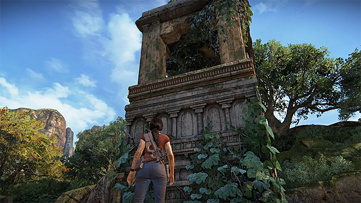 This secret can be found in the north-east part of the map, next to a passage that leads to the ruins with tokens map - 4 - Treasures in Wester Ghats | Secrets - Secrets - Uncharted: The Lost Legacy Game Guide