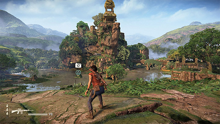 You get this photo opportunity in the Western part of the map - 4 - Photos, optional conversations and lockboxes in Wester Ghats | Secrets - Secrets - Uncharted: The Lost Legacy Game Guide