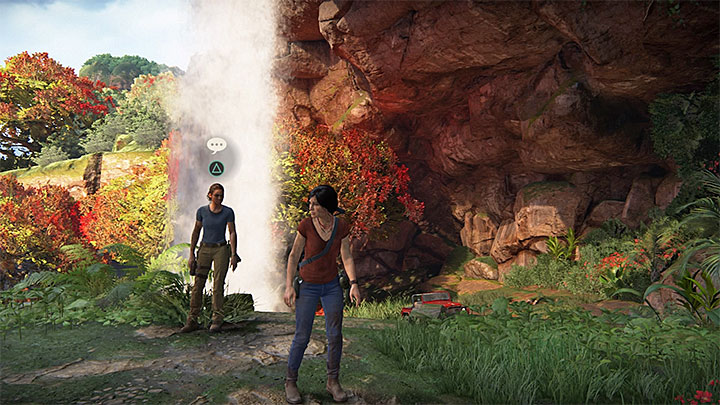 You can have another conversation with Nadine when you reach area near Shiva fort located in the north - 4 - Photos, optional conversations and lockboxes in Wester Ghats | Secrets - Secrets - Uncharted: The Lost Legacy Game Guide