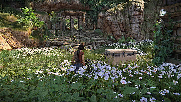 This lockbox is located in the north-east part of the map - 4 - Photos, optional conversations and lockboxes in Wester Ghats | Secrets - Secrets - Uncharted: The Lost Legacy Game Guide