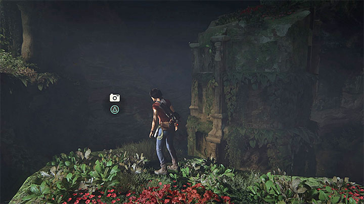 You can take another photo after you have climbed down over ropes into a large cave with statues of Parashurama and Ganesh - 5 - The Great Battle - All secrets - Secrets - Uncharted: The Lost Legacy Game Guide