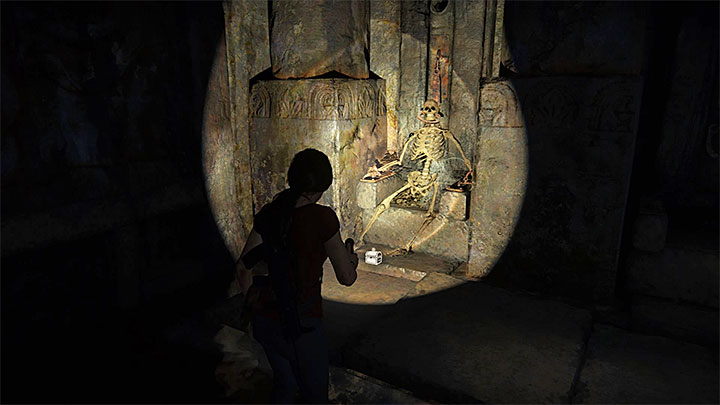 The last treasure can be found after completing the part during which you run away from an armored vehicle - 5 - The Great Battle - All secrets - Secrets - Uncharted: The Lost Legacy Game Guide
