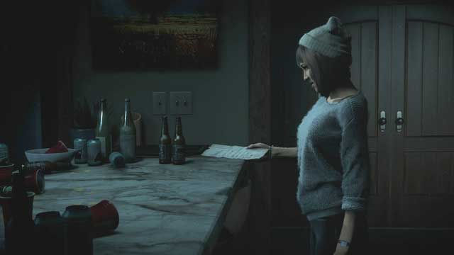 Beth will pick up the page from the worktop on her own - Prologue | Walkthrough - Walkthrough - Until Dawn Game Guide & Walkthrough