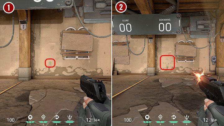 На изображении выше вы можете увидеть, как изменяется точность при стрельбе из классического пистолета - Valorant: Best crosshair - Ошибка движения, Ошибка стрельбы, параметры, советы - Основы - Руководство Valorant
