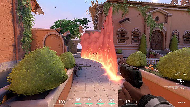 Удерживая кнопку Blaze, вы можете изменить направление стены огня, точно так же, как снаряд Jetts Cloudburst - Valorant: Phoenix (Duelist) - навыки, особенности, советы - Персонажи - Valorant Guide