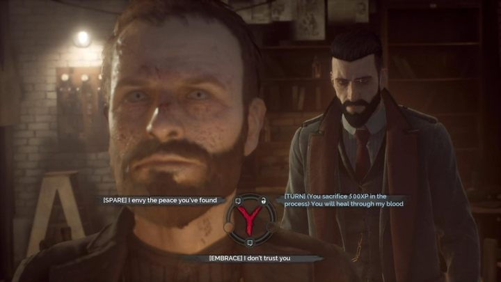 Like with Dorothy, you have three choices - What should I do with Sean Hampton in Vampyr? - Important decisions - Vampyr Game Guide