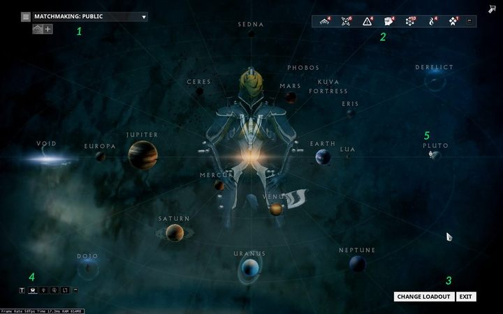 Warframe - Interface - Star Map - Warframe Game Guide | gamepressure com