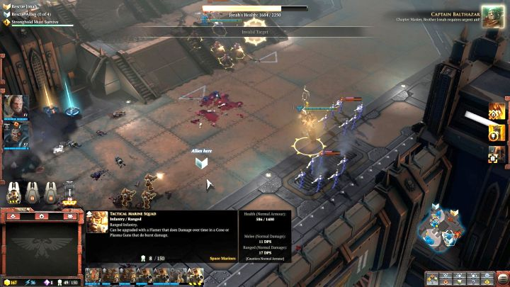 One of the four places where Space Marines can be rescued. - Mission 4 - Campaign � walkthrough - Warhammer 40,000: Dawn of War III Game Guide