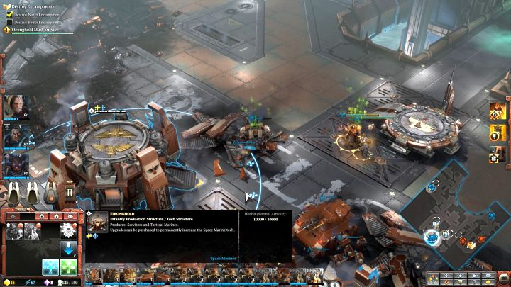 Before you attack the enemy, reinforce the troops and train new squads. - Mission 4 - Campaign � walkthrough - Warhammer 40,000: Dawn of War III Game Guide
