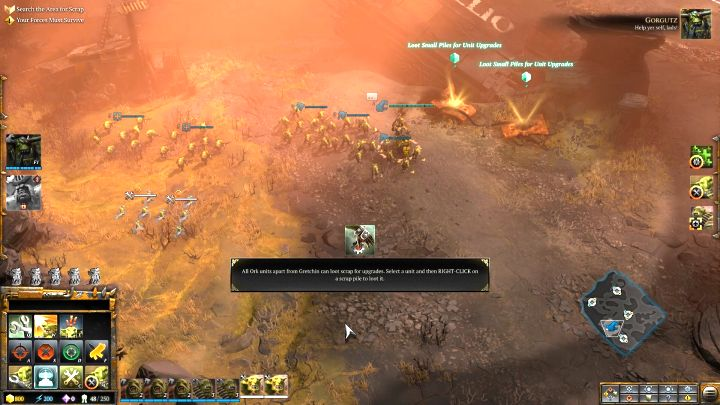 The first scrap piles of this mission. - Mission 5 - Campaign � walkthrough - Warhammer 40,000: Dawn of War III Game Guide