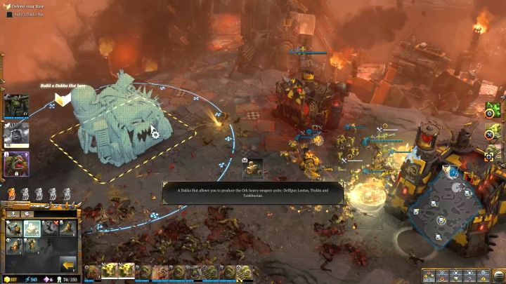 Now you have to construct some additional buildings. - Mission 5 - Campaign � walkthrough - Warhammer 40,000: Dawn of War III Game Guide