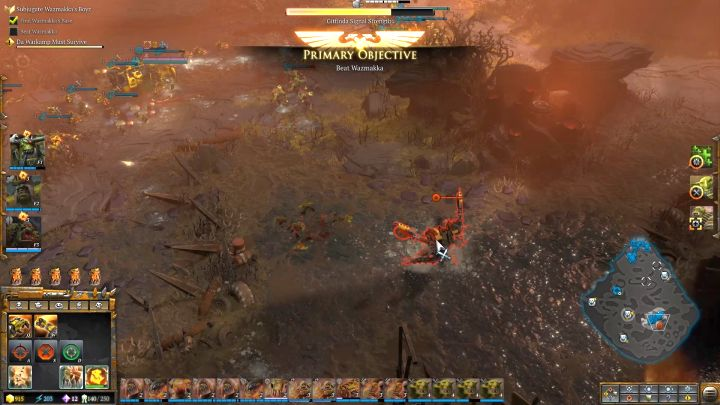 The entrance to Wazmakkas base - Mission 5 - Campaign � walkthrough - Warhammer 40,000: Dawn of War III Game Guide