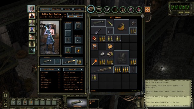 Character Screen And Inventory The Basics Of The