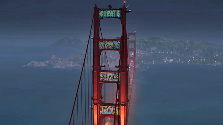 Image result for watch dogs 2 golden gate bridge graffiti
