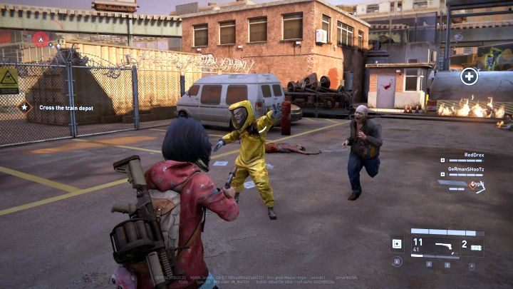 The Hazmat wearing his distinctive suit. - Types of enemies in World War Z - Gameplay basics - World War Z Guide