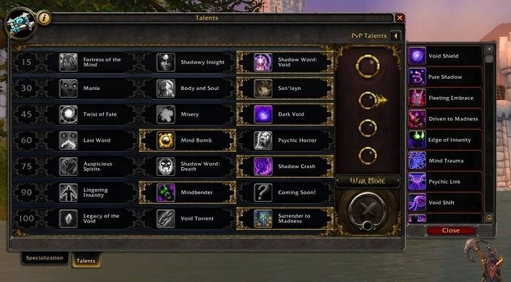 When War Mode is enabled, you can use PvP talents even outside PvP battles - PvP, War Mode and PvP gear in WOW Battle for Azeroth - FAQ - World of Warcraft Battle for Azeroth Game Guide